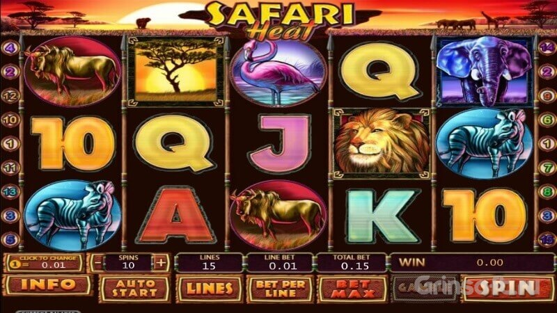 Основные символы игры Safari Heat на зеркале казино Азарт Плей