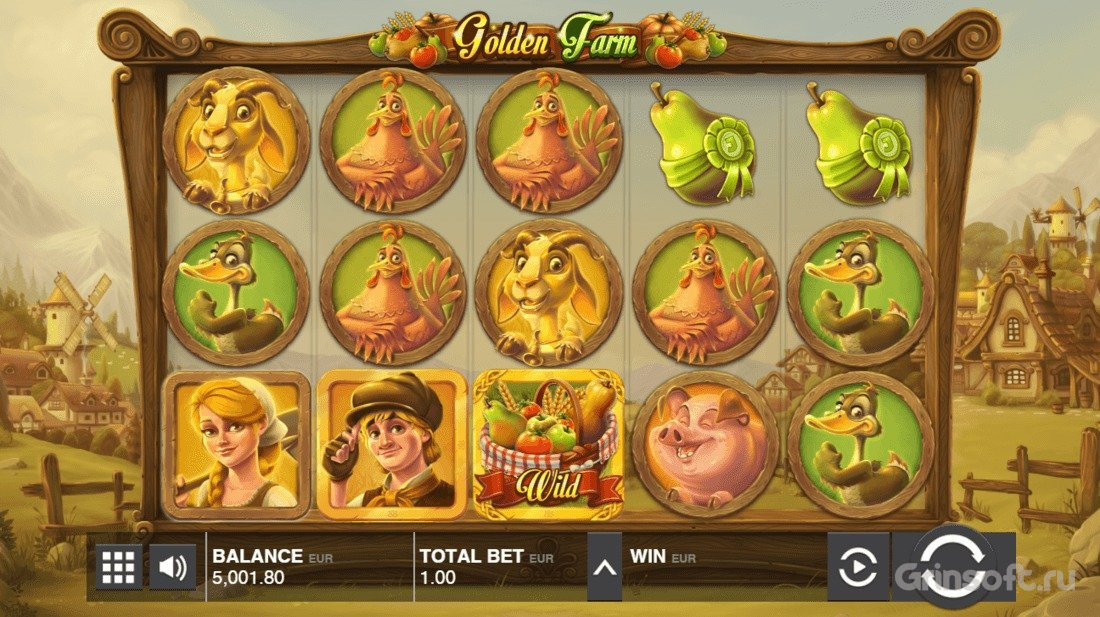 Условия выигрыша в автомате Golden Farm из казино Вулкан Platinum